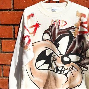 Vtg '96 Tasmanian Devil Warner Bros Sweater